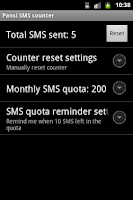 Screenshot of Easy SMS counter plugin