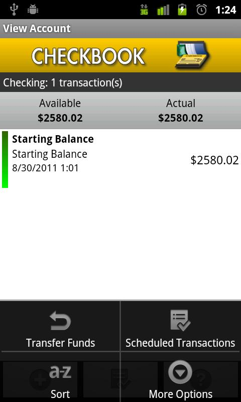 Checkbook- screenshot