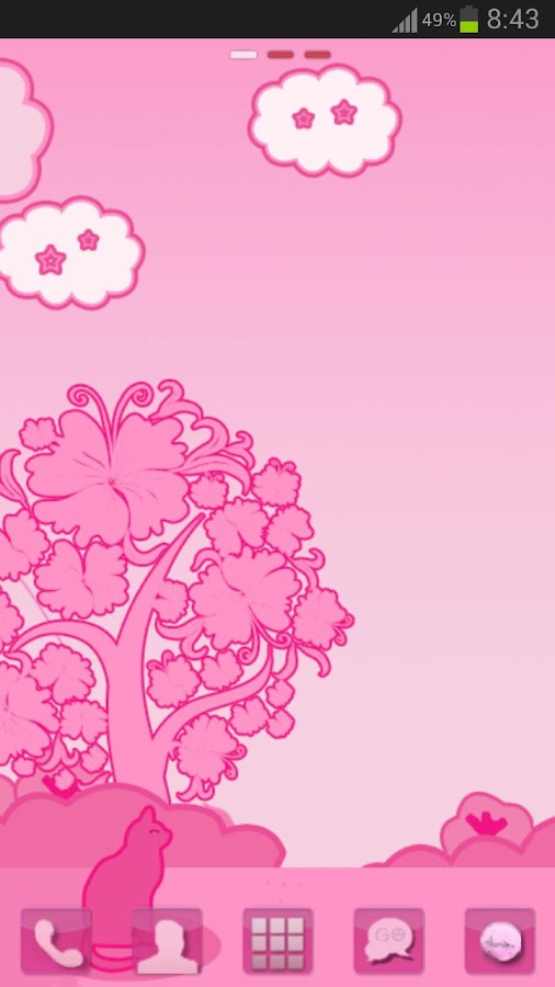 GO Launcher EX Theme Pink Cat- screenshot
