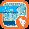 Winter Snowflake Theme GO SMS icon