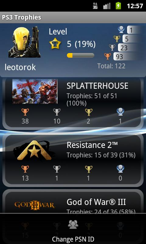 PSN Trophies - screenshot