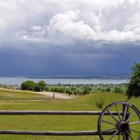 Storm in Kalispell by Dorothy Valine Gram - Landscapes Prairies, Meadows & Fields (  )