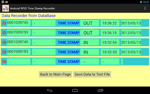 RFID Time  Attendance- screenshot thumbnail