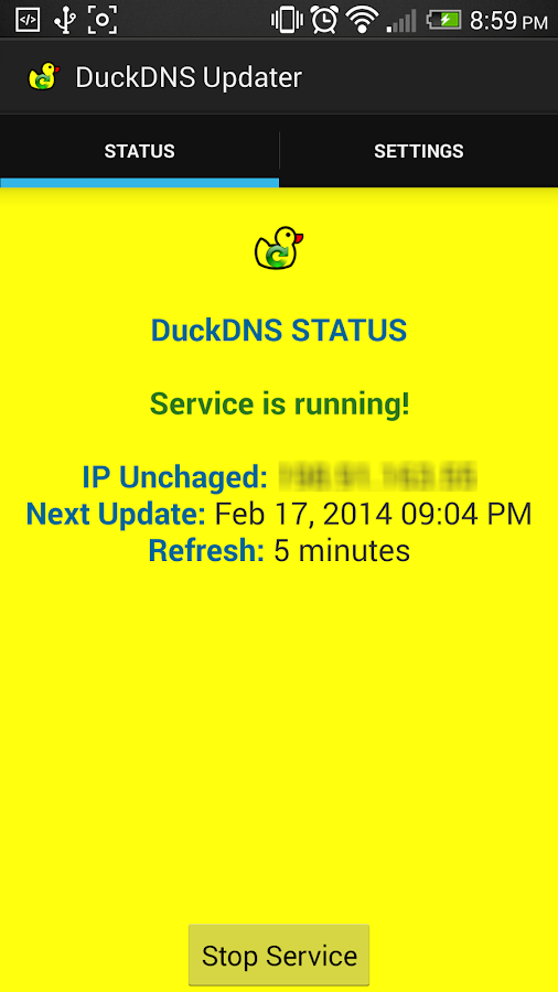 DuckDNS Client (Dynamic DNS)- screenshot