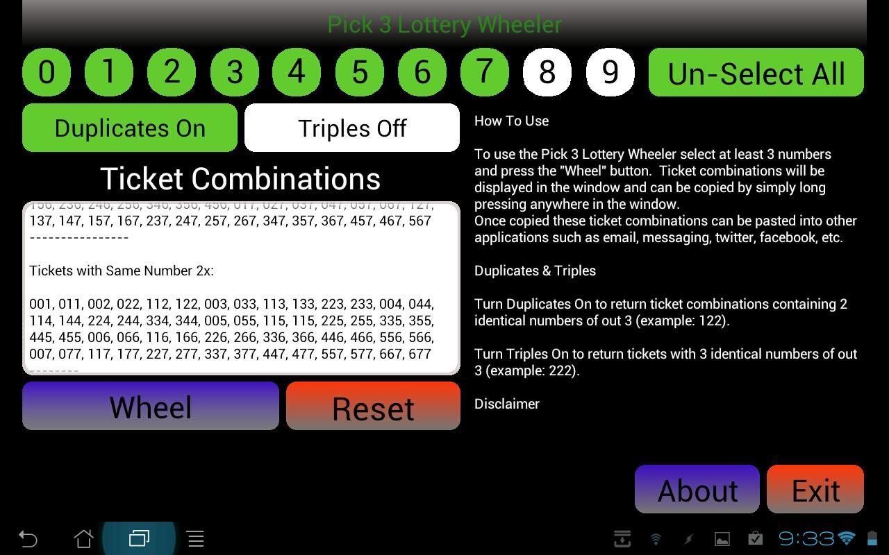 Pick 3 Wheel (Legacy version)- screenshot