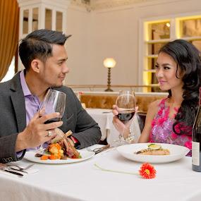 fine dinning by Andy Yusuf - People Couples ( wine steak n dinner )