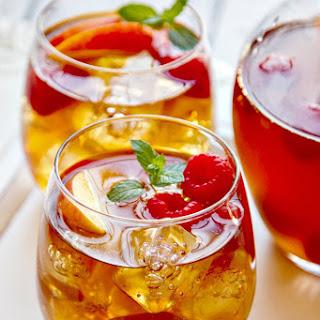 Sweet Tea Sangria {with Fresh Peaches & Raspberries} Recipe