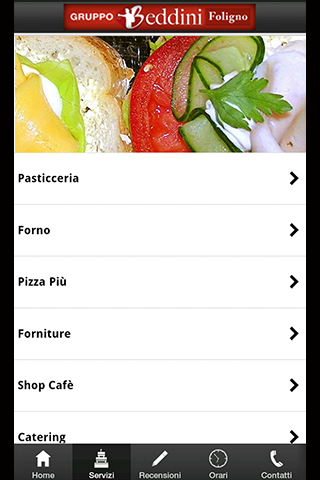Pasticceria Beddini App- screenshot
