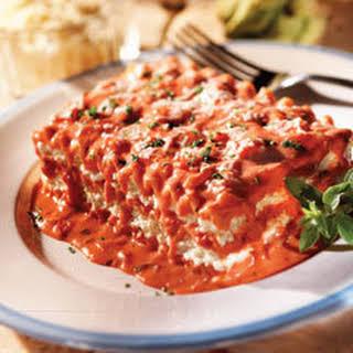 Lasagna With Pink Sauce.