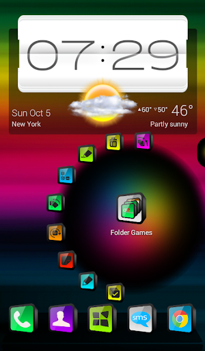 Next Launcher Theme Cindy 3D