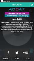 Screenshot of NewLife FM