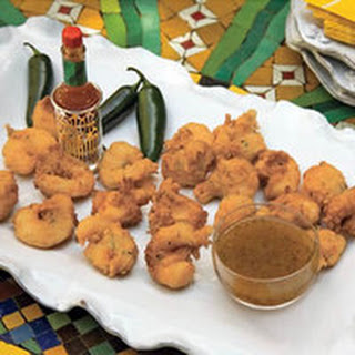 Coconut Shrimp Beignets with Pepper Jelly Sauce