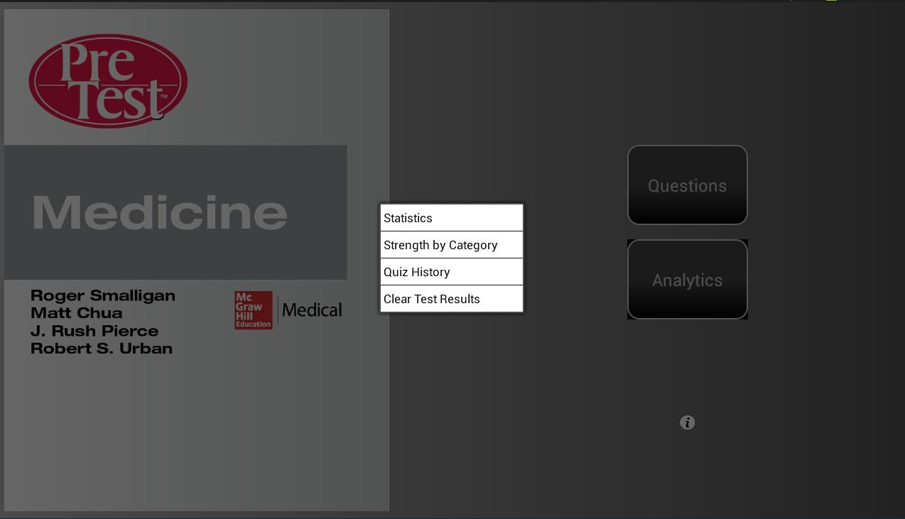 Medicine PreTest - screenshot