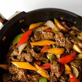 Black Pepper Steak.