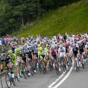 TDF Stage 2 by Kathryn Johnson - Sports & Fitness Cycling ( tour de france, cycling, sport, tdf, derbyshire )
