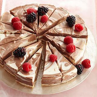 No-Bake Chocolate-Swirl Cheesecake.