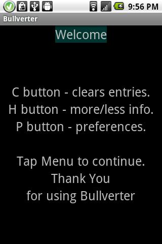 Bullverter- screenshot