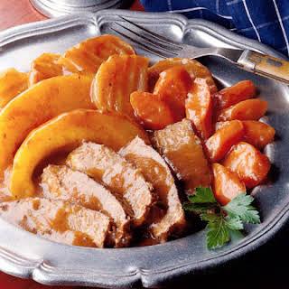 Beef Roast with Tomato-Wine Gravy.