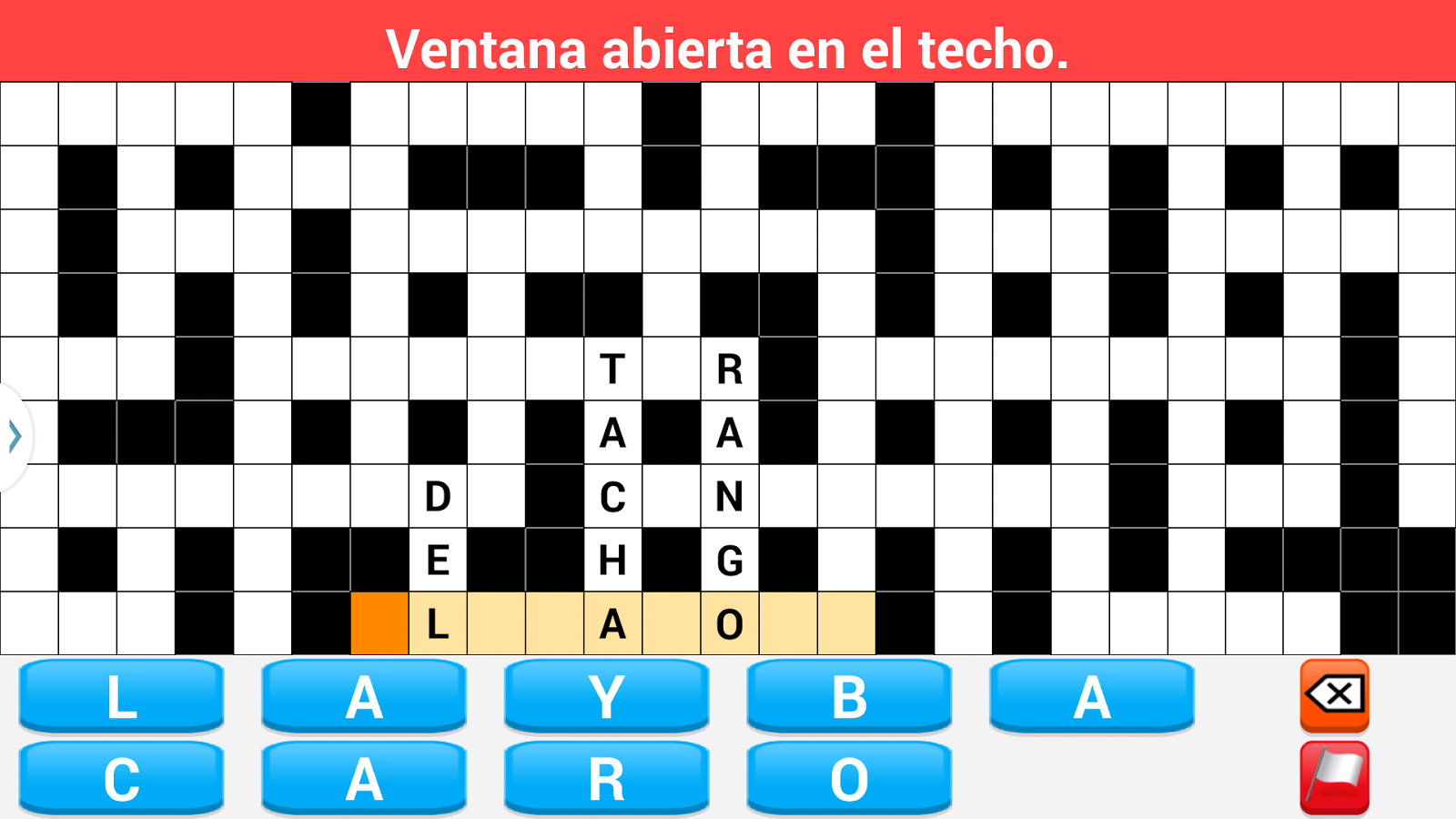 Crosswords spanish- screenshot