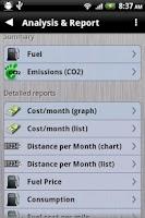 Screenshot of Gas Manager