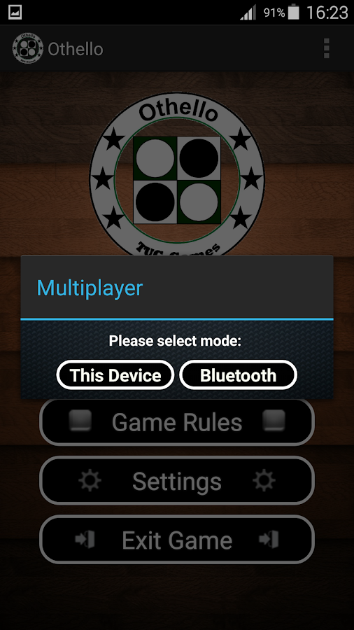 Reversi Bluetooth- screenshot