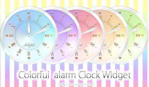 カラフルアナログ時計ウィジェット