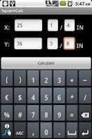 Screenshot of SquareCalc Construction Calc
