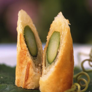 Asparagus Parmesan Pastry Rolls.