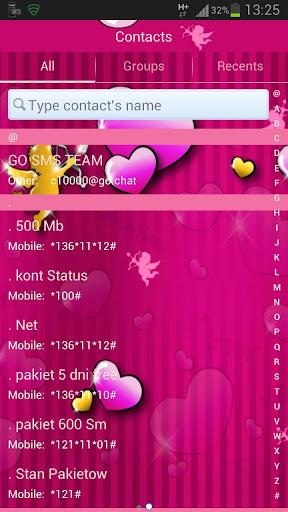 個人化必備APP下載 GO SMS Pro Theme lovely pink 好玩app不花錢 綠色工廠好玩App