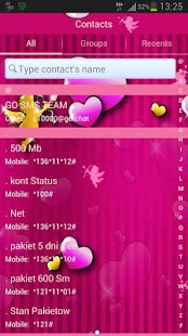 GO SMS Pro Theme lovely pink- screenshot thumbnail