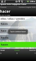Screenshot of Spanish Verbs Conjugation