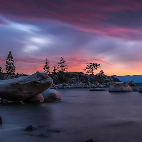 Balanced Chaos by Mike Lindberg - Landscapes Waterscapes ( alpine lake, sierra nevada, eastern sierra, nevada, california, mountain lake, tahoe, long exposure, sierra, lake tahoe )