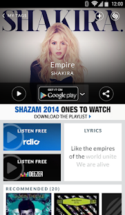 Shazam Encore - screenshot thumbnail