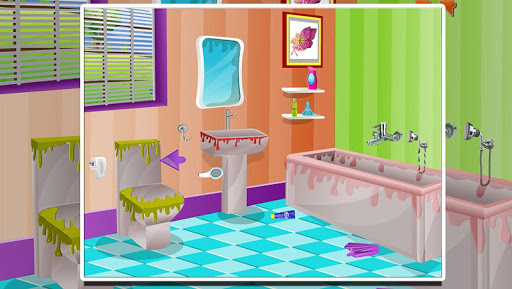 【免費家庭片App】Princess clean bathroom-APP點子