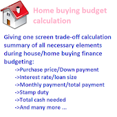 Home buying budget calculation