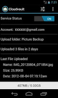 Screenshot of CloudVault Photo Uploader