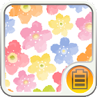 water color blooming Battery icon
