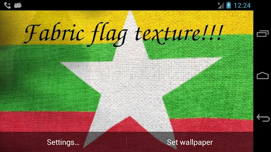 3D Myanmar Flag Live Wallpaper- screenshot thumbnail