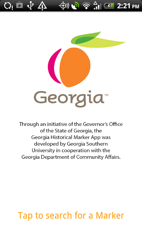 Georgia Historical Markers- screenshot