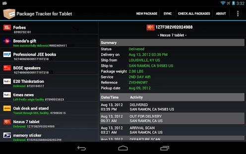 Package Tracker for Tablet- screenshot thumbnail
