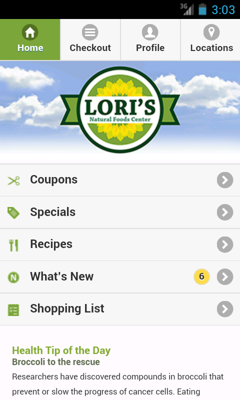 Lori's Natural Foods Center- screenshot