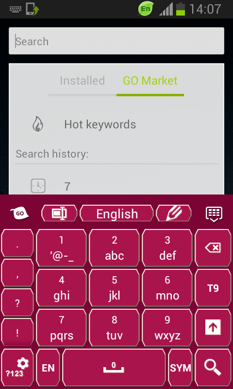 Keyboard Pink - screenshot