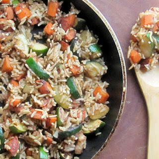 Brown Rice With Carrot & Zucchini.