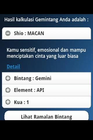 Gemintang - Ramalan Bintang- screenshot