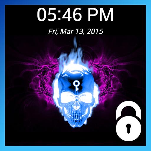 骷髏頭圖案鎖屏 生活 App LOGO-硬是要APP