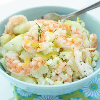 Shrimp & Cauliflower Salad w/ Lemon & Dill.