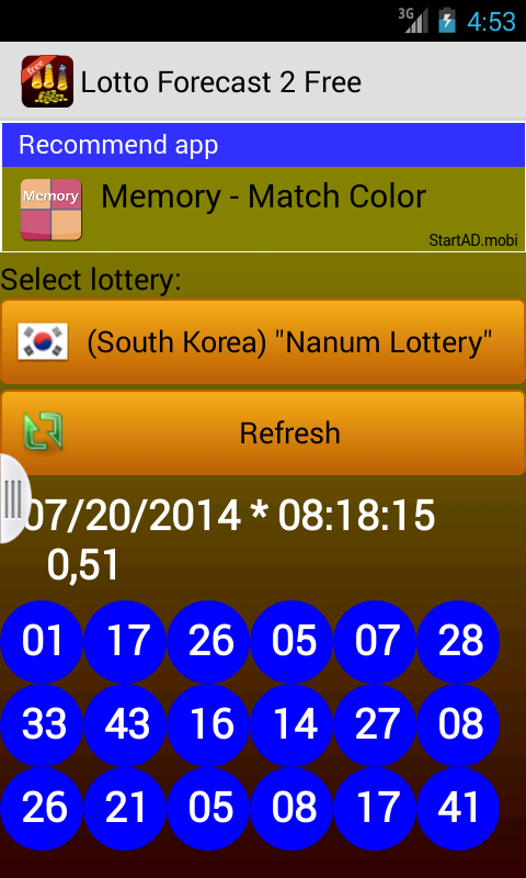 Lotto Forecast 2 Free - screenshot