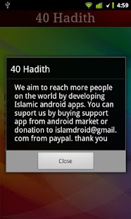 40 Hadith + Widget - screenshot thumbnail