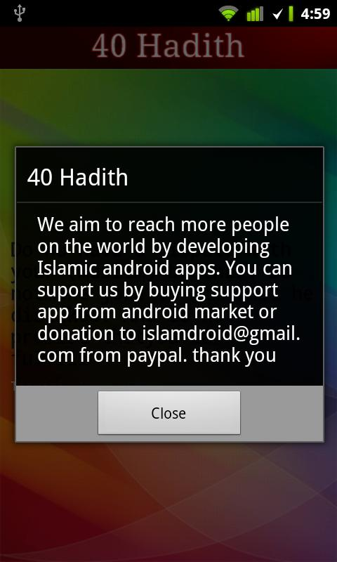 40 Hadith + Widget - screenshot