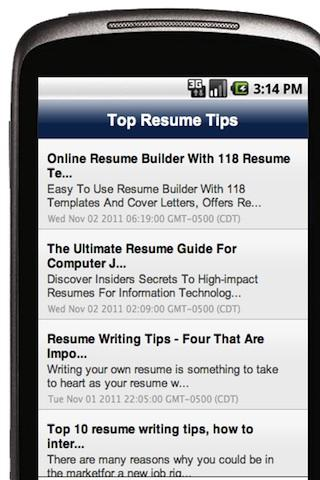 top resume tips android apps on play